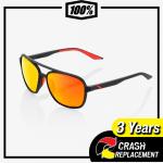 100% -Kasia Soft Tact Black HiPER® Red Multilayer Mirror Lens