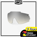 100% RACETRAP Replacement Lens Low-light Yellow Silver Mirror