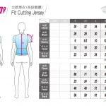 Atlas Women Fit Cutting Jersey Size Chart